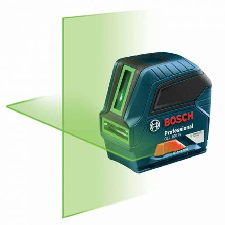Bosch GLL100GX-RT Green-Beam Self-Leveling Cross-Line Laser (Reconditioned Tool)