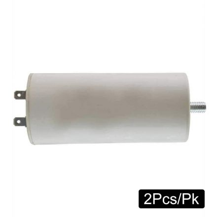 Superior Electric CMC7015-2PK 100 MFD +/-5% 50Hz/60Hz AC 300V Cylinder Motor Starting Capacitor with 8mm Mounting Thread (CBB60)