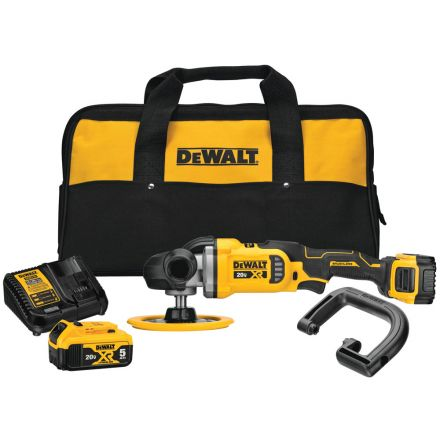 Dewalt DCM849P2 20V MAX* XR® 7 in. Cordless Variable-Speed Rotary Polisher Kit