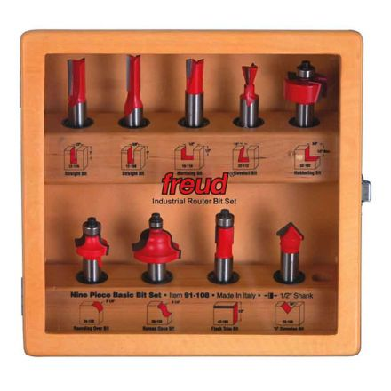 Freud 91-108 9-Piece Basic Bit Set