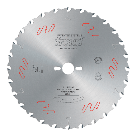 Freud LU1E03 300 2.7 30 Z=28 FLAT ICE 300mm Thin Kerf Carbide Tipped Blade to Cut Solid Wood