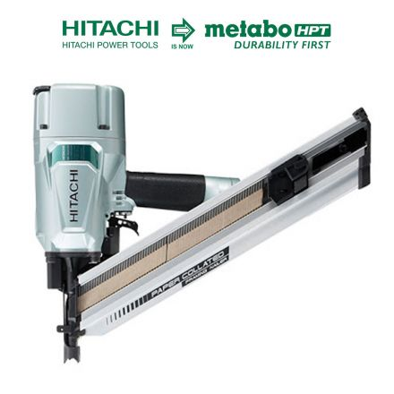 Hitachi NR83AA5 3-1/4 Inch Clipped Head Fram Nailer Accepts Paper Tape Collated Nails