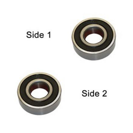 Hardin WP800-24 Replacement Ball Bearing for WP800 - 2 x Seal, ID 7 mm x OD 19 mmx W 6 mm