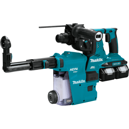 Makita XRH08PTW 18V X2 LXT® Lithium-Ion (36V) Brushless Cordless 1-1/8 Inch AVT® Rotary Hammer Kit, accepts SDS-PLUS bits, w/ HEPA Dust Extractor, 3- 878333